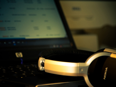 headphone & laptop