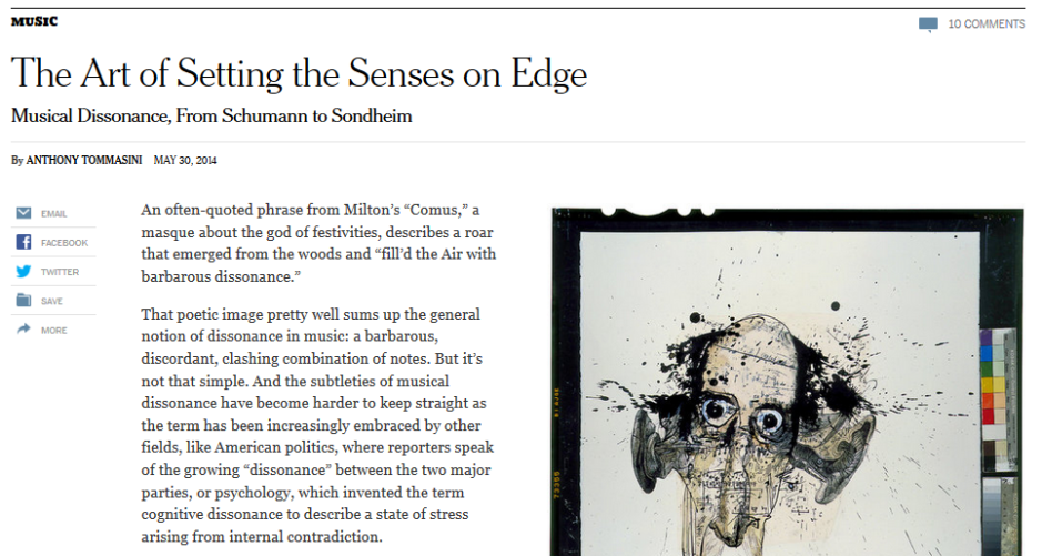 NYTimes dissonance