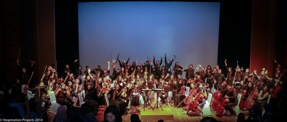 Orkes Simfoni Universitas Indonesia, Gadjah Mada Chamber Orchestra dan ITB Student Orchestra kolaborasi 2014