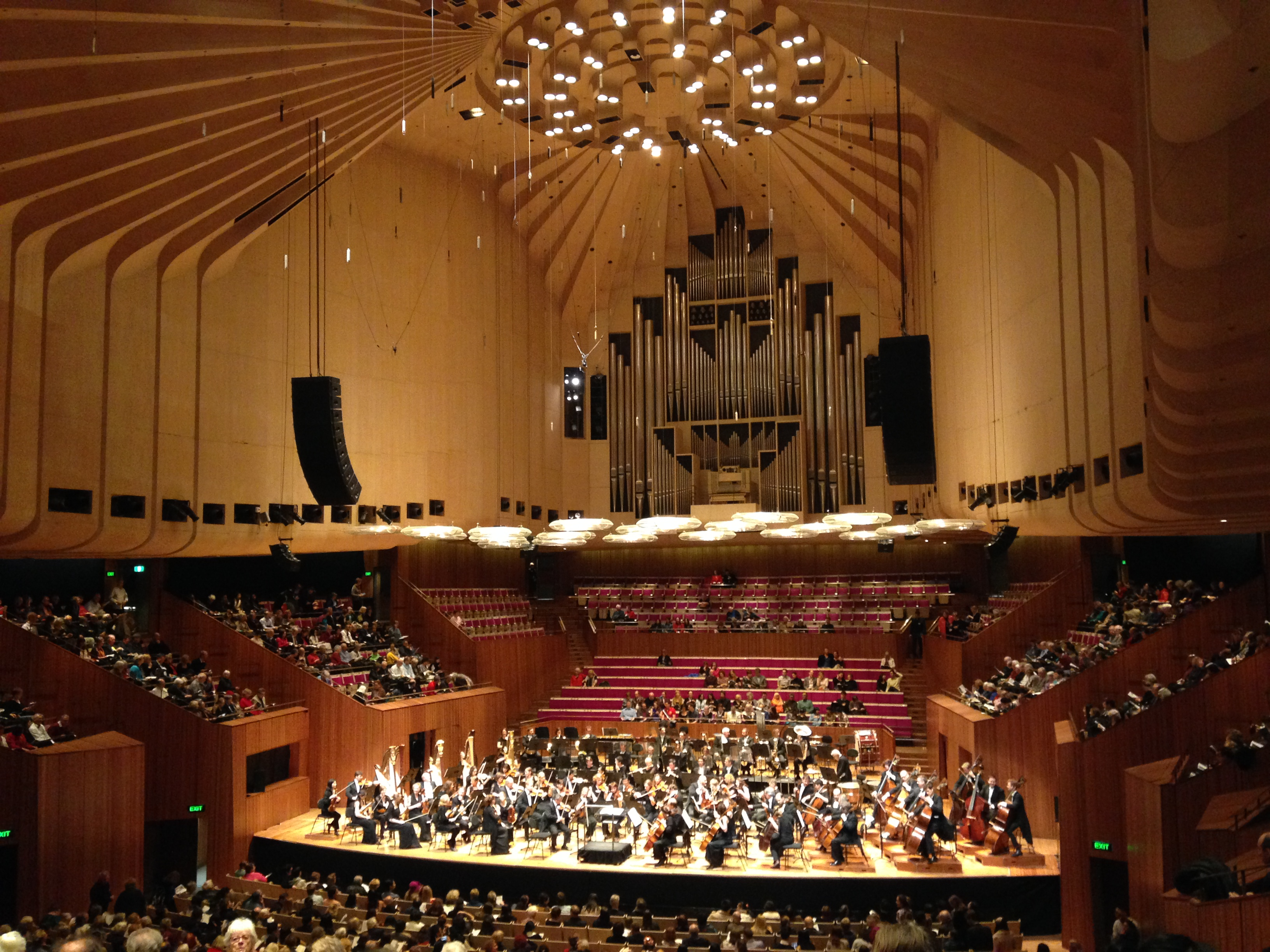 Sydney Opera House Concert Hall Akustik Dan Karakter A