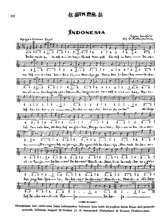 Indonesia Raya di koran Sinpo 1928