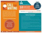 Geser Call for writing