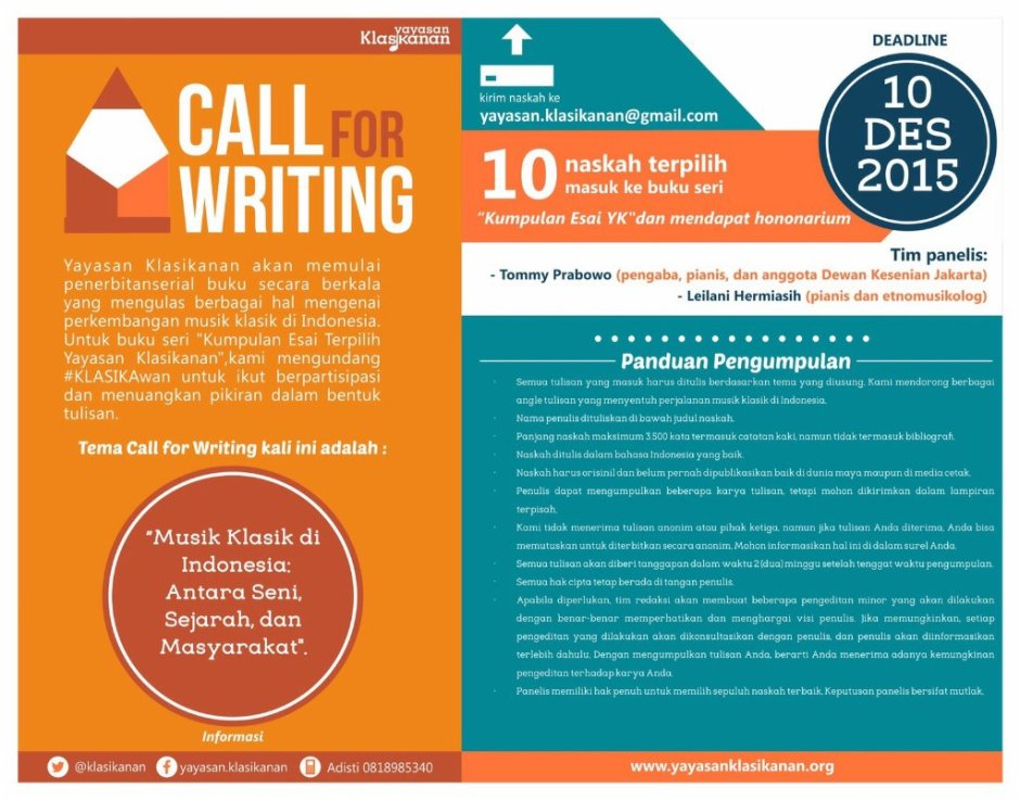 Geser Call for writing